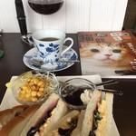 よつ葉Cafe - 料理写真:サンドイッチモーニング(2018.02現在)