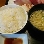 お食事処 大原 - ご飯と味噌汁
