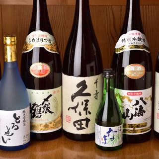 寿司と相乗効果のある日本酒へのこだわり。