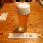 たか嶋 - 樽生ビール(懐かしい)