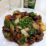 ミトチャ - ククラ・コザテは砂肝と野菜のピリ辛ケチャップ炒めです