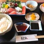藤吉郎 - お刺身定食  ポン酢と刺身醤油