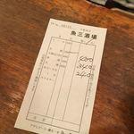 魚三酒場 - 提供時に代金を記載してくれて最後に計算。