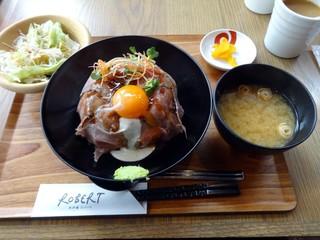 天王寺 肉炉端 ロバート - ローストビーフ丼