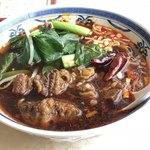 中国美食 唐苑酒楼 - 牛ばら肉の辛子つゆそば