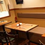根津 日本酒 多田 - テーブル席