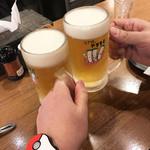 81328869 - すじネギ焼きと生ビール(1,380円)