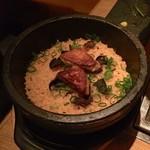 表参道焼肉 KINTAN - フォアグラとトリュフの石焼ビビンパ