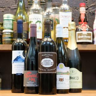 【ワイン】フランス産を中心に厳選35種類。