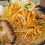 モッチーらーめん - 味噌ラーメン 辛ネギトッピング ¥700+¥150