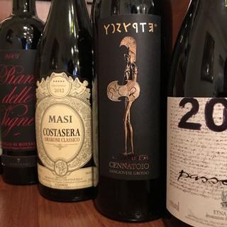 北から南までのイタリアワインを取り揃えております。