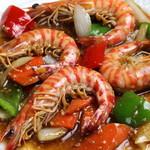 広東料理処お好み焼き 千代 - 料理写真:天使の海老を使用した広東料理。ボリュームが有・味付けが抜群!