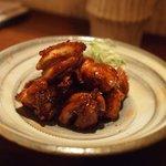 蕎麦 流石 - 軍鶏の炒り鶏(焼き鳥風)