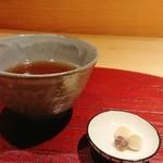 ヨシモリ - 出し巻き御膳 食後にいただけるお茶