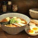 中華soba いそべ - にこにこワンタン麺(黒旨)