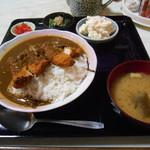 玉川食堂 - チキンカツカレー(定食)(σ≧▽≦)σ