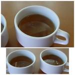 ハローRKB - ◆お料理には「スープ」が付き、お代わり可能。コンソメ風ですが、薄め。