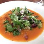 ÉCHI PONTE VECCHIO A OSAKA - 野菜料理、凝縮トロトロ白菜を濃厚なスープに浮かべてサラダっぽく