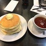 ベル・ヴィル - ●ミルフィーユパンケーキ(4枚)ドリンク付き490円税込を注文。 ドリンクは ⚫︎ベルヴィルのオリジナル紅茶