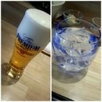 81344323 - 1杯目は「生ビール」2杯目「芋ロック」