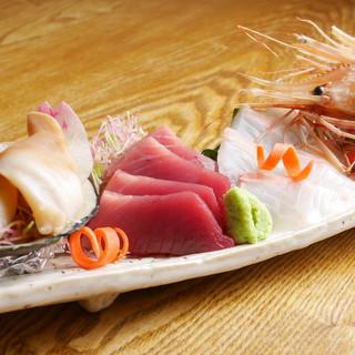 """""""いいものを気軽に。""""こだわりの旬の魚、天然物が食べられる!"""
