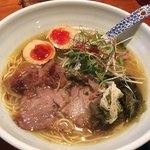 老麺 田ぶち - ゆず塩らーめん+煮玉子