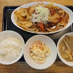 俺が豚食堂 - 料理写真:2018年2月 大判豚ロース酢豚定食 990円