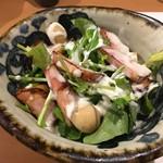 81350849 - ルッコラと炙りベーコンのサラダ(620円+税)