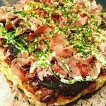 京焼 ねぎ美人亭 - いつも食べる風味とはまた違ったお好み焼。
