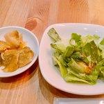 馬さんの中華パスタ店 双喜麺上海 - 平日ランチセットのサラダとザーサイ無料