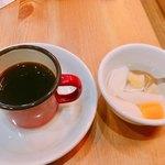 馬さんの中華パスタ店 双喜麺上海 - 平日ランチセットのコーヒーと杏仁豆腐