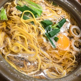 橋本食堂 - 料理写真:鍋焼きラーメン\(^o^)/