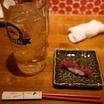 学芸大学前 肉寿司 - 寿司ちっちゃいんじゃないよ!サンキュウハイボ学大玉♪