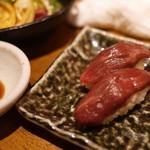 学芸大学前 肉寿司 - 赤身を味わえ( ゚д゚ )クワッ
