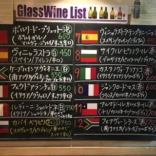 種類豊富なワインの数々。お気に入りの一杯を見つけて下さい。