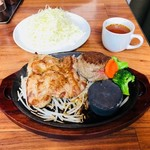 筋肉食堂 - ランチセットC キャベツ100g+スープ付き!