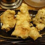 うどん 丸香 - かしわ(胸肉)の天ぷら