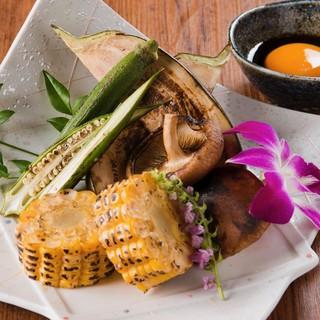【野菜好き集まれ】女性から高評価。糸島産野菜の炉端焼き