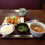 そば処小田 - カキフライ定食