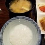 ぬくもりの宿 ふる川 - お粥と味噌汁