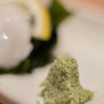 おたる政寿司 - 【指身(さしみ)】、山葵(わさび)擬(もど)き