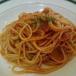 パブロカザルス - ベーコンの入ったトマト風味パスタ。