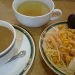 パブロカザルス - ドリンク、スープ、サラダの各バー付き。