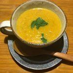 カリーバー・ミルチ - 「ムング豆のスープ」390円