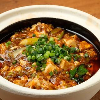 """四川といえば""""麻婆豆腐""""!当店の調味料はすべて自家製です◎"""