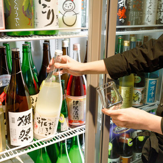50種類を超える日本酒を常備