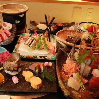 【接待・会食に、会席4320円〜10800円(全9品)】