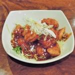 丸一食堂 - 花イカのチリソース煮