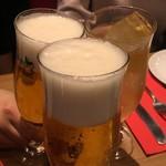 81373957 - 生ビール550円、ジンジャーエール450円