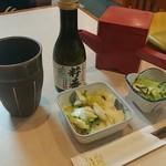 富士見庵 - 料理写真:そば焼酎&そば湯